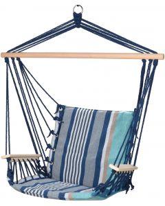 Grote Blauwe Katoenen Hangstoel
