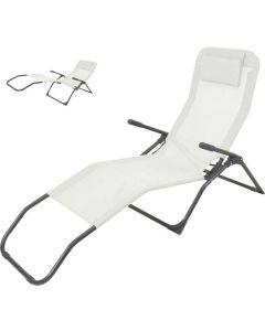Siesta Ligstoel Grijs/Zwart - Textileen
