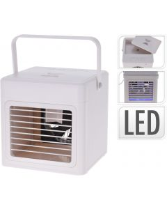Aircooler met handvat en LED-verlichting