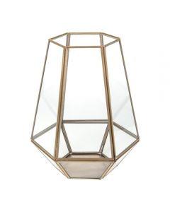 Lantaarn Hexagoon goud - 25 cm