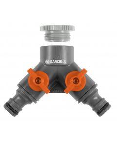 Gardena 2-weg ventiel - 26,5/21 mm