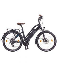 "NCM Elektrische Trekking bike Milano 26"" Zwart"