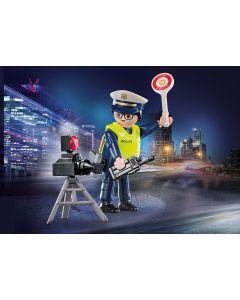 Playmobil Politieman met Flitscontrole