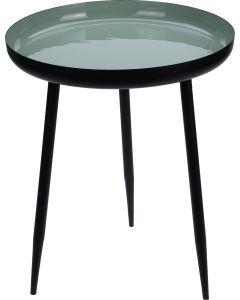 Bijzettafel Ø 36,5cm zwart-groen