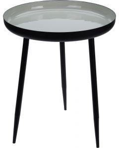 Bijzettafel rond Ø 36,6 cm zwart-cream