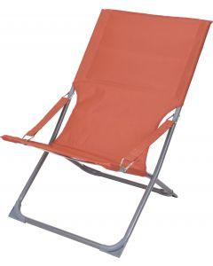 Ambiance Strandstoel Vouwstoel oranje 118 x 25 x 64 cm
