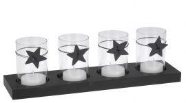 Theelichthouder-set-met-sterren-zwart