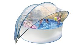 Zwembad-solartent