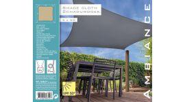 Schaduwdoek-Vierkant-Zandkleur-5x5
