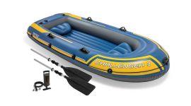 Opblaasboot-Intex---Challenger-3-Set