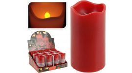 Kaars-led-timer-7x13-cm-rood