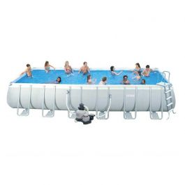 Intex ultra frame pool 732 x 366 cm for Heuts zwembad