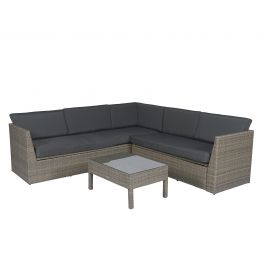 loungeset hoekbank wicker met kussenbox. Black Bedroom Furniture Sets. Home Design Ideas