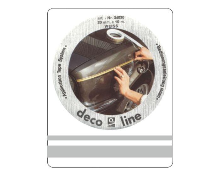 Dubbele streep zilver 12,5mm sticker