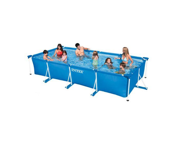 Intex metal frame pool 450 x 220 cm for Intex zwembad grijs