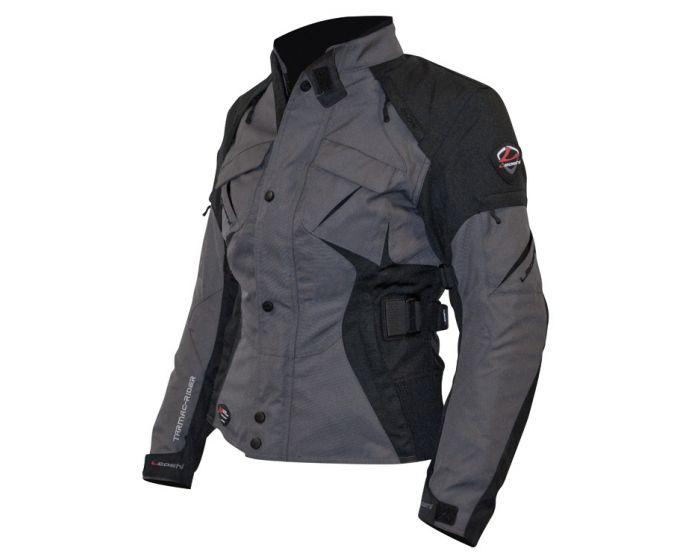 Motorjas Passion dames grijs/zwart S