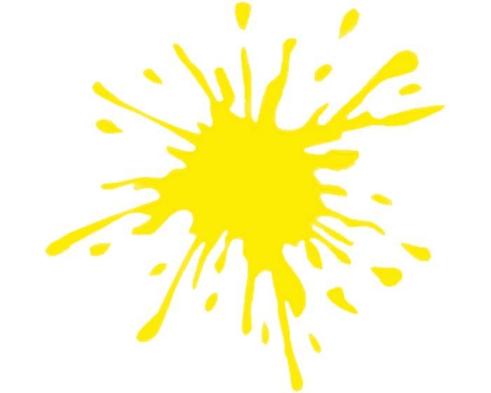Splash geel sticker