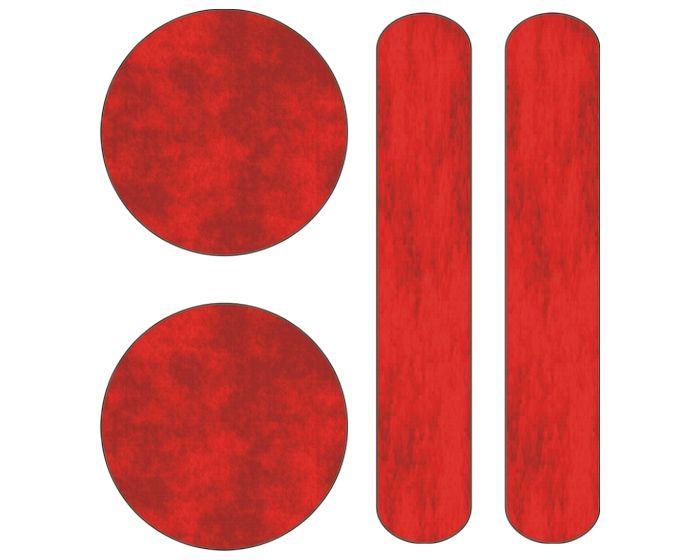 Reflecterende streepjes/bolletjes sticker