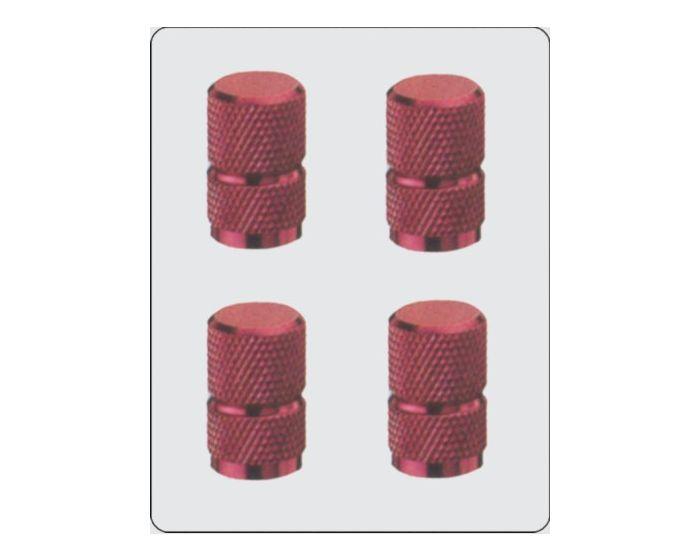 Ventiel kapjes rood 4 stuks