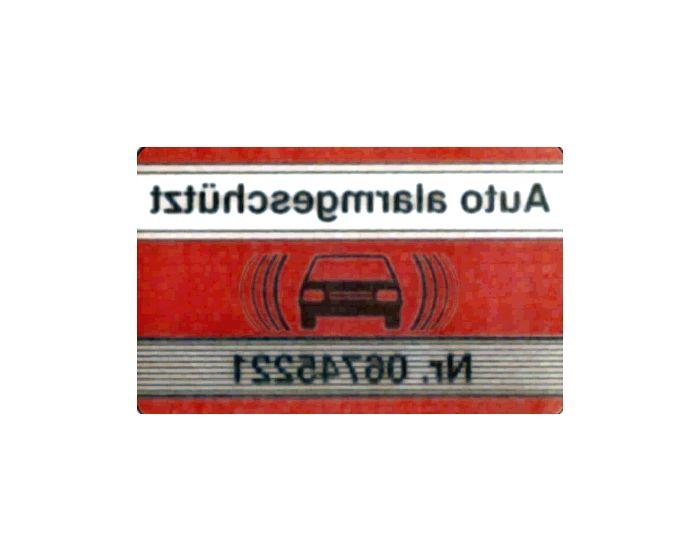 Alarm rood/wit sticker