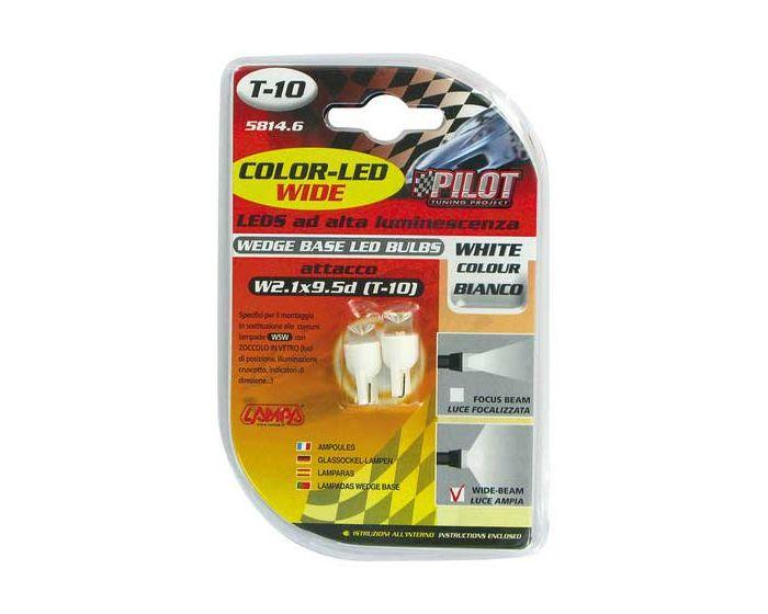 Verlichting T10 lamp 1x LED 12V wit WB