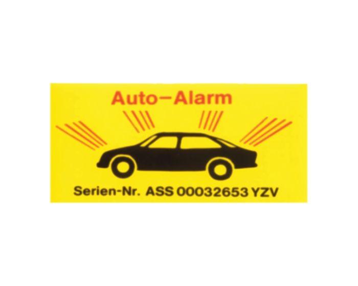 Autoalarm sticker