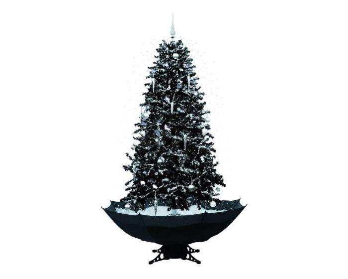 Sneeuwende Kerstboom Zwart 170cm