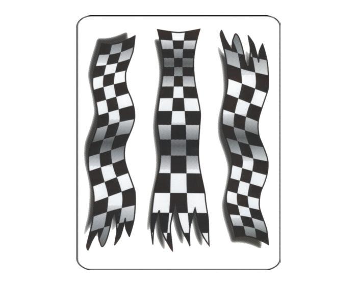 3 Autosportvlaggen sticker sticker