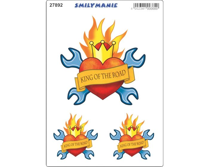 Smiley king of the road sticker
