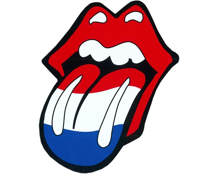 Rolling stones tong nederland sticker 10cm