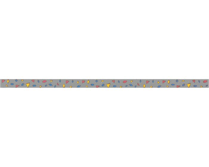 Rally strepen zilver 25mm sticker