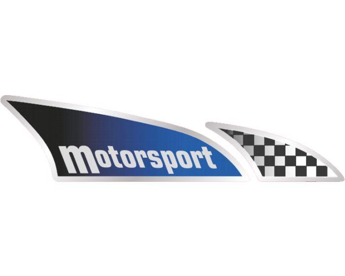 Motorsportvlag rechts sticker