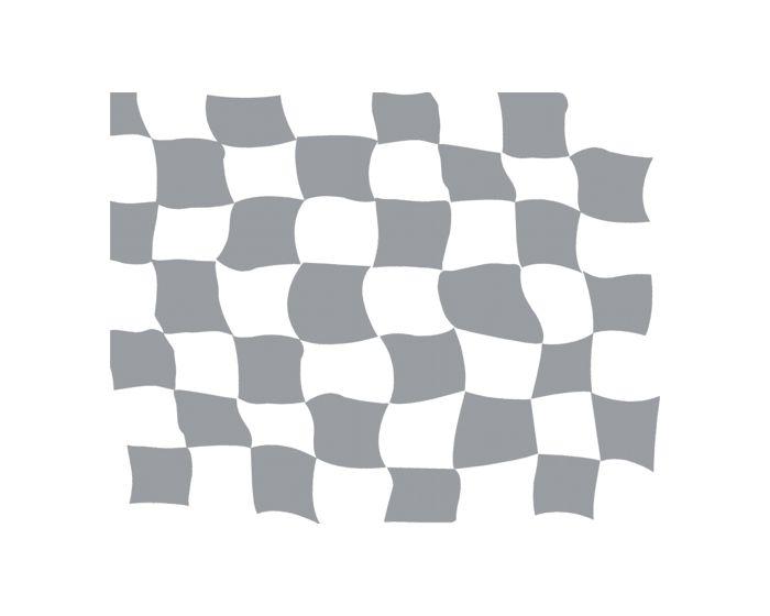 Raceflag zilver 900x700mm sticker