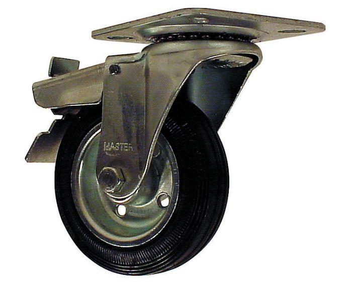 zwenkwiel met rem 100mm