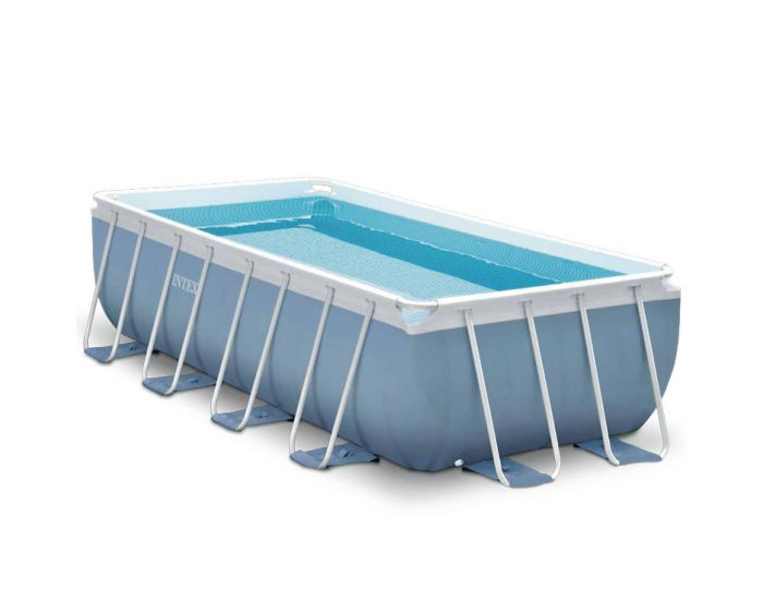 Intex prism frame pool 400 x 200 x 100 cm for Heuts zwembad