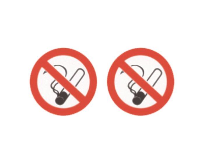 Verboden te roken (2x) sticker