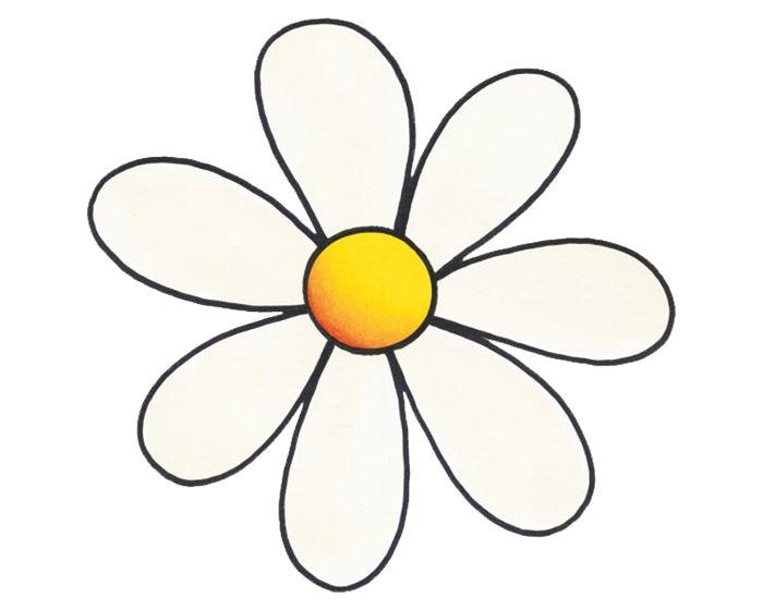 Bloemen sticker 11,5x10