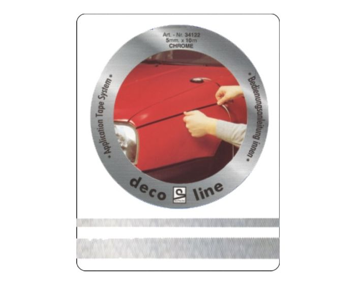 Striping chroom 12mm sticker