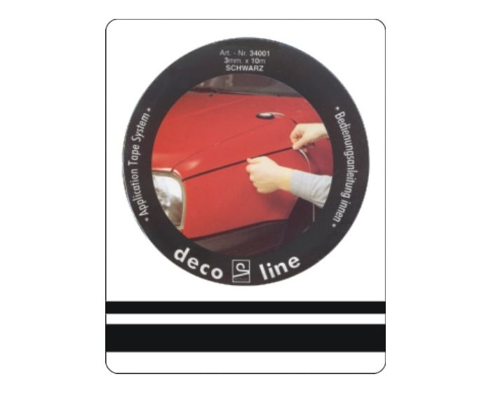 Dubbele streep zwart 12,5mm sticker