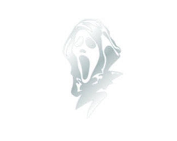 Scream masker chroom sticker