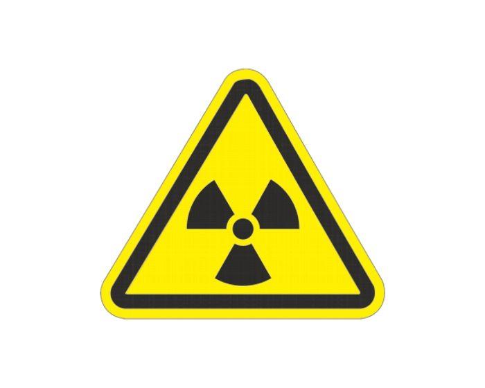 Radioactieve straling sticker