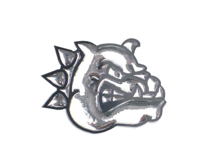 Bulldog 3D chroom sticker