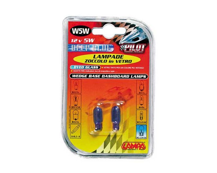 Verlichting T10 lamp Blue-Xe DYED 12V 5W