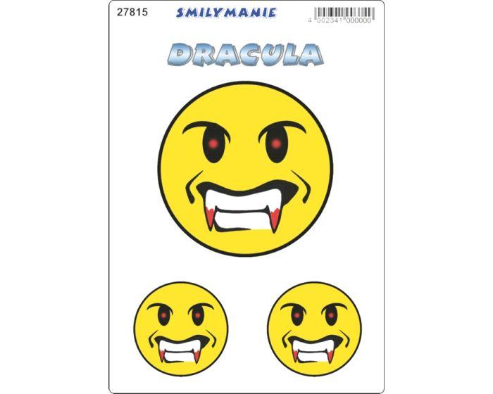Smiley dracula sticker