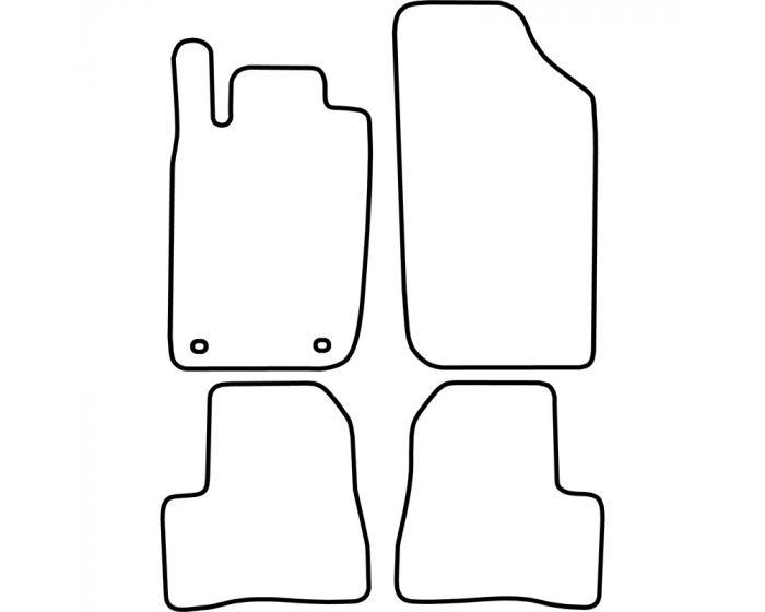 Automatten Peugeot 206 1998-2007