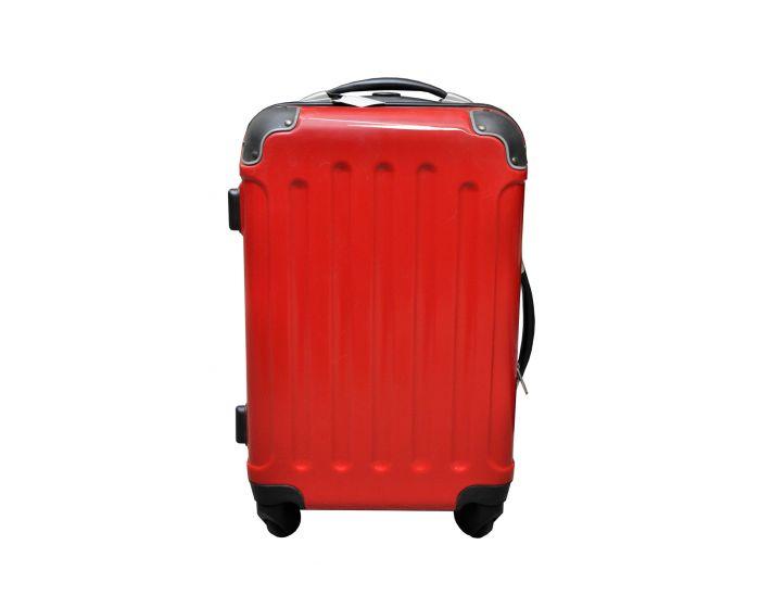 Koffer hoogglans rood 40 liter