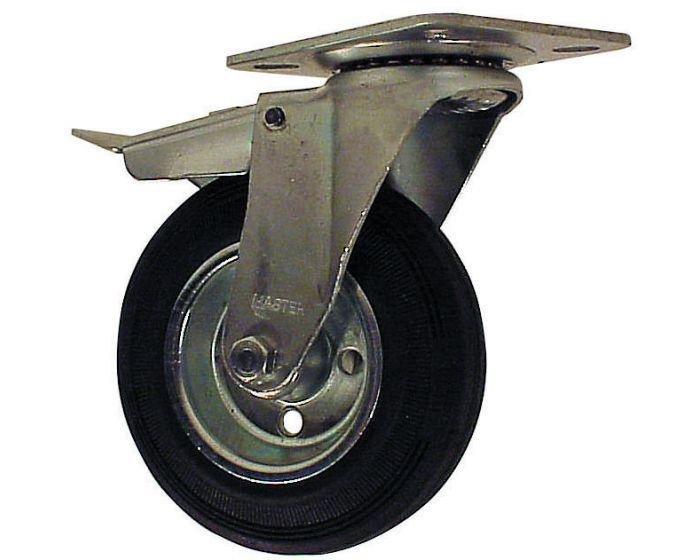 Zzwenkwiel met rem 125 mm