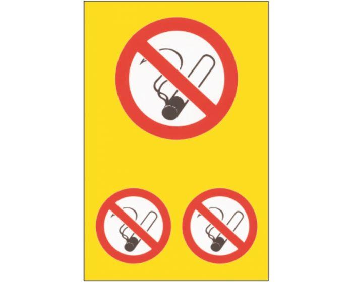 Roken verboden stickerset