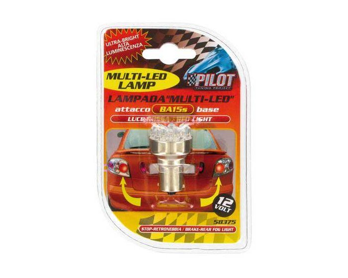 Verlichting BA15s lamp 11x LED 12V rood