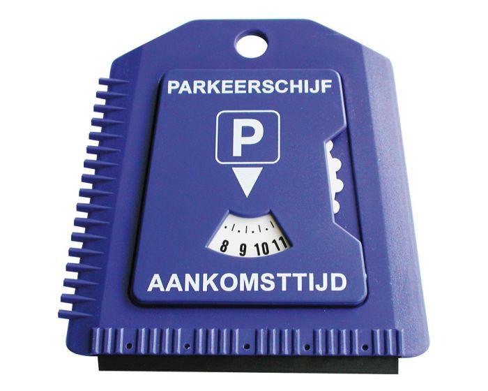 IJskrabber met parkeerschijf